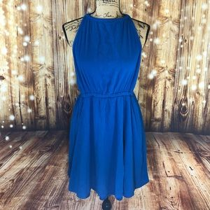 Forever 21 royal blue halter dress size XL